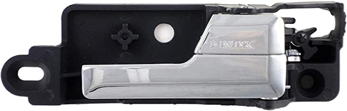 Eynpire 8304 Rear Right Passenger Side Interior Inside Inner Door Handle with Chrome Lever For 06-12 Ford Fusion/07-12 Lincoln MKZ/06 Lincoln Zephyr/06-11 Mercury Milan
