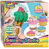 Creative Kids Super Squishy Studio DIY Paint Your Own Squishy Kit - Arts & Crafts Gifts for Girls - Makes 3 Jumbo & 2 Keychain Size Squishies – Paint & Artificial Topping Included - Ages 6 & Up