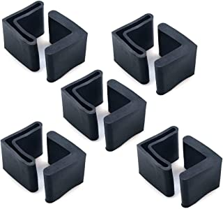 GLE2016 10pcs Rubber Black L Shaped Furniture Covers Angle Iron Foot Pads 30mm x 30mm