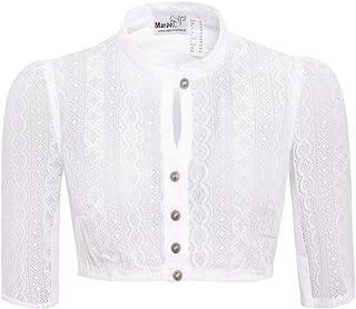 MarJo Trachten Damen Trachten-Mode Dirndlbluse Bela in Weiß traditionell