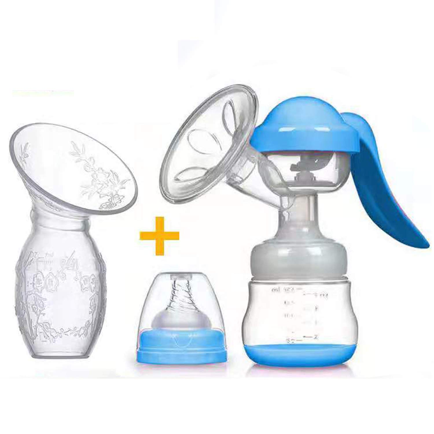 Q JING Manual Breast Silicone Bottle