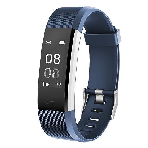 842d6e02f5 GanRiver 活動量計 スマートブレスレット Bluetooth搭載 腕時計型 心拍計 歩数計 ウェアラブル スマート