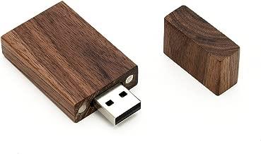 1 16GB USB 2.0 Wooden Walnut Drive- Single Item - Grove Stick Design