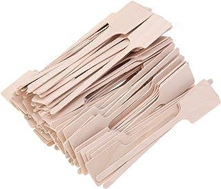BESTONZON 100pcs Disposable Coffee Stirrer,Green Eco-Friendly Wood Stirrer Tea Stick Paddle Shape for Honey