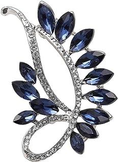 Fugift Broche de cristal vintage para vestido de noche de moda creativa versátil accesorios de vidrio temperamento