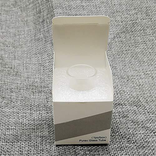 Denghui-ec, Tubo de Vidrio de Repuesto de 2 Piezas para el atomizador Wismec Theorem RTA 22MM Tanque 2.7ML,Sin Tabaco ni nicotina (Color : Clear)