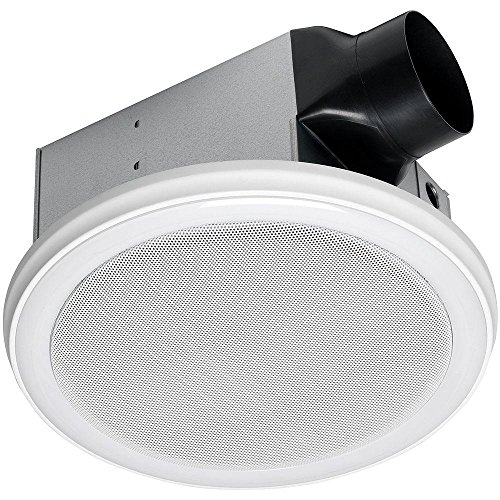 Homewerks Worldwide 7130-06-BT 100 CFM Bluetooth Stereo Speaker Bathroom Exhaust Fan