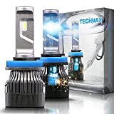 Best S&D Hid Headlights - TECHMAX Mini H11 LED Headlight Bulbs,60W 10000Lm 4700Lux Review