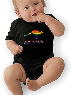LGBT Flag Kangaroo Australia Baby Girl Boys Short Sleeve Jumpsuits Creeper Jumpsuits