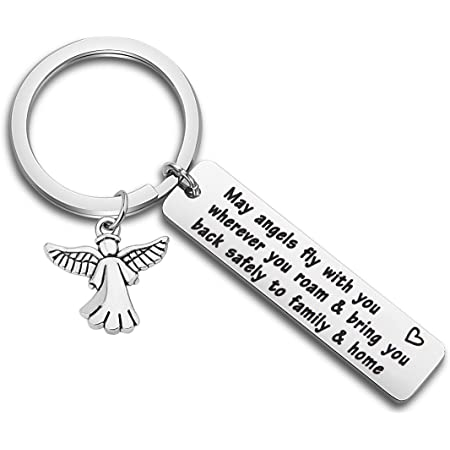 Keychain Wishname Felt Felt Pendant Pendant Name Key House Keychain Gift Guardian Angel 1 Side Printed