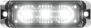 Abrams Flex Series (White) 9W - 3 LED Emergency Vehicle Truck LED Grille Light Head Surface Mount Strobe Warning Light