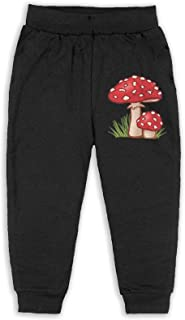 Easionerol Magic Mushrooms Boys Long Sweatpants Jogger Trousers