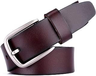 Men's Belt Pin Buckle Casual Personality Pants Business Belt Fashion Black Long 120CM (Color : Coffee)