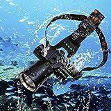 Goldengulf Rechargeable Cree L2 Aluminum Waterproof Diving Swimming Hiking Camping Hunting Fishing Headlamp Underwater...