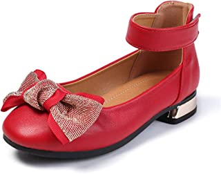 Warming Girl's Heel Patent Dress Shoe with Bow (Little Kid, Big Kid)