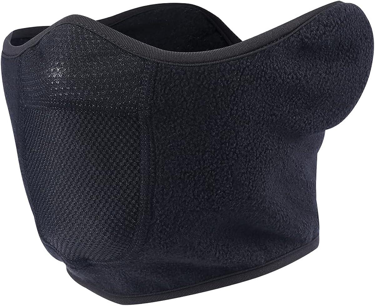 Omeneex Half Mask Balaclava Ski Mask with Earloop Adjustable Velcro Windproof