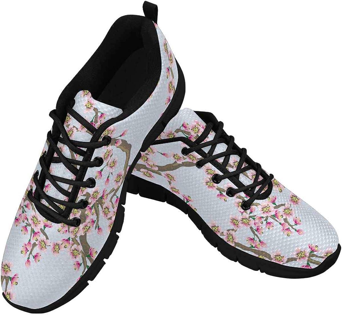 InterestPrint Pink Cherry Blossoms Popular overseas Women's Shoe Seasonal Wrap Introduction Branches Walking
