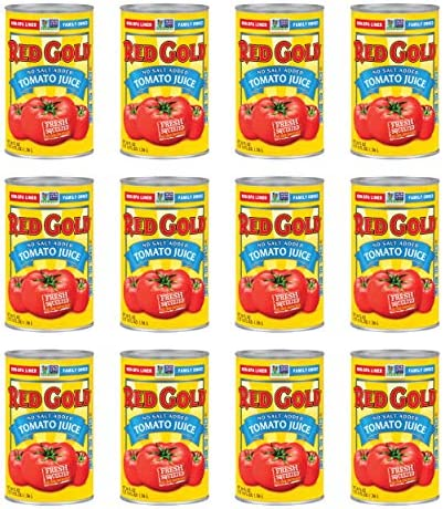 Red Gold Fresh Tomato Juice No Salt Added Kosher and Gluten Free 46 Fl Oz 12 Count product image