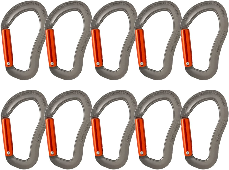 Fusion Climb Techno Zoom Gerade Tor Ergonomischer Karabiner grau Orange 10er-Pack B01LDIFYPS  Saisonaler heißer Verkauf