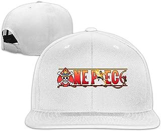 Anime One Piece Ace Flat Bill Snapback Adjustable Walk Hats Black