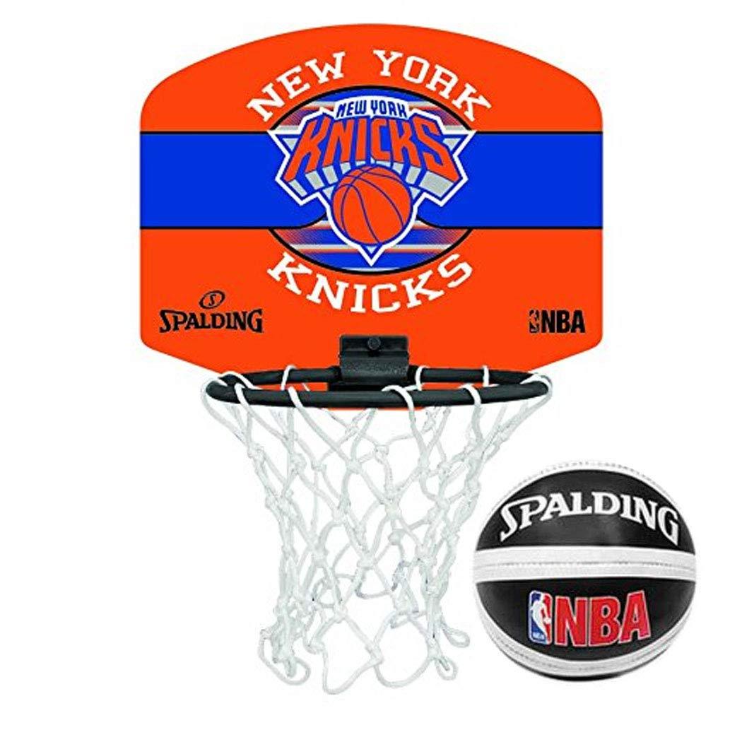 Spalding Mini canasta de baloncesto en el logo de una selección de la NBA, Knicks de New York: Amazon.es: Deportes y aire libre