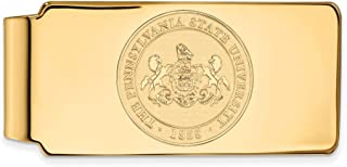 Jewel Tie 925 Sterling Silver with Gold-Toned Penn State University Money Clip Crest (55mm x 26mm)