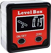 数字斜面箱 360° (4 x 90°) 角度探测仪 带倾斜方向指示器,量角测量仪磁性底座,倾斜仪立方度计测量工具 适用于木工安装