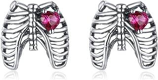 Sponsored Ad - WOSTU 925 Sterling Silver Stud Earrings for Women Unicorn Earrings Gifts for Girls,ladybug Stud Earrings Ca...