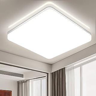 Oraymin LED Lámpara de Techo 36W Equivalente a 250W Resistente al Agua IP54 Blanco Frío 3600LM 4000K Luz de Techo LED para baño Dormitorio Cocina Sala de Estar Comedor Balcón Pasillo