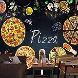 Papel Pintado 3D Características De La Pizza - Papel Pintado Mural Fotomurales Murales Pared Papel Para Pared Foto 3D Mural Pared Barato Decorativo (W250 X H175Cm).