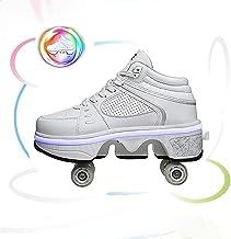 Deform Wheel Skates Roller Shoes Casual Deformation Sneakers Walk Skates Hommes Femmes Runaway Skates Quatre Roues, 7 Coul...