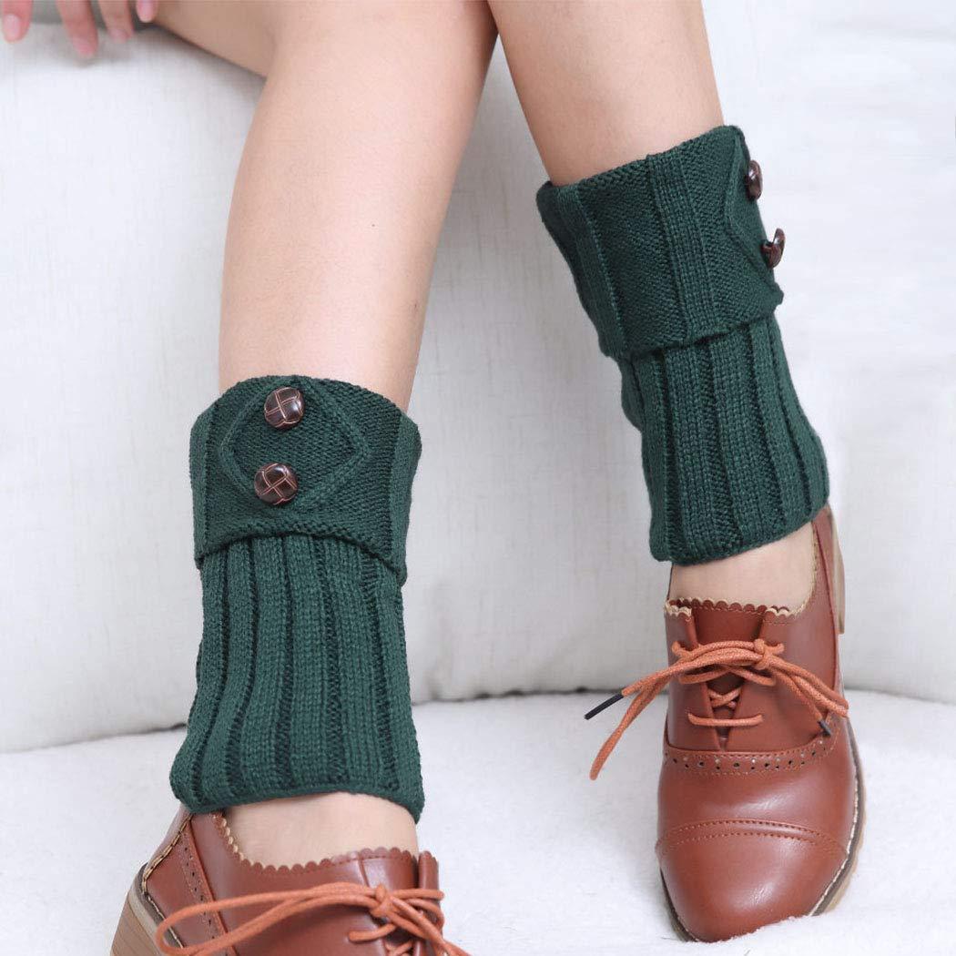 Leg Warmers for Women Boot Knit Cuffs Short Crochet Leg Warmers Women Short Boots Socks Winter Crochet Boot Cuffs for Girls. (Green)
