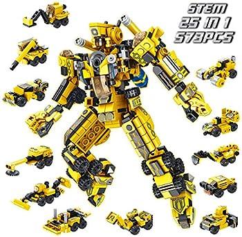 573-Pieces Panlos Robot Stem Engineering Building Blocks Toy