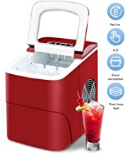 Mini Automatic Electric Ice Machine, 15Kgs/24H 220V Bullet Round Block Ice Cube Maker for Small Bar Coffee Shop