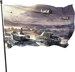 LZHANDA Jardín Banderas Decoración de Exterior, Garden Flag Tank Plane Outdoor Yard Flag Wall Lawn Banner Home Flag Decoration 3' X 5'