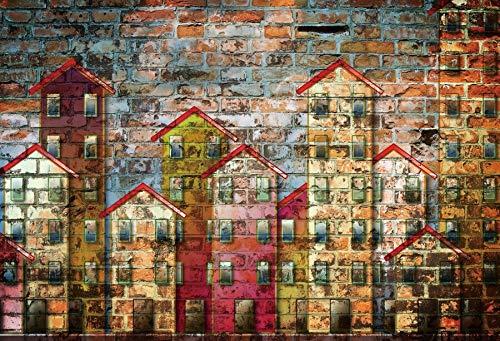 Pared de ladrillo Fondo de Pantalla de Graffiti Colorido Decoración de Fiesta Retrato de bebé Fondo fotográfico Telones de Fondo Photocall Photo Studio A13 2.7x1.8m