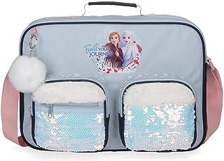 Cartera Escolar Frozen Trust Your Journey, Azul