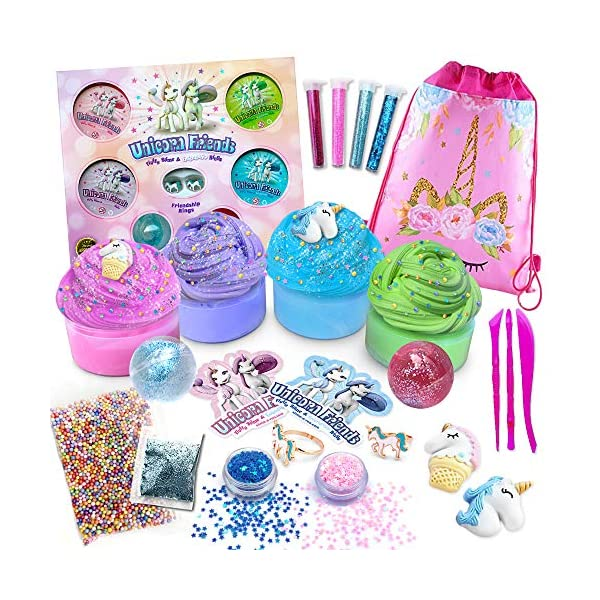 Alpine Summit Unicorn Slime Kit Supplies Stuff for Girls Making Slime [Everything in One Box] Includes Unicorn Backpack… 2