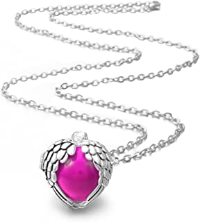 EUDORA Harmony Bola Necklace Angel Wing 18mm Music Chime Ball Cage Pendant - 30