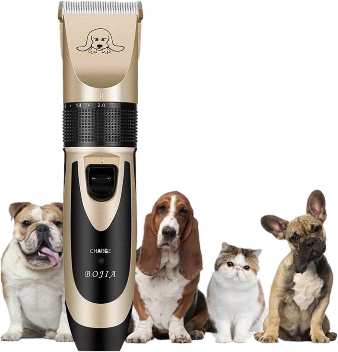Smniao - Cortapelos para perros, mascotas, perros, gatos, profesionales, silencioso, inalámbrico, para cortar pelo de animales, recargable