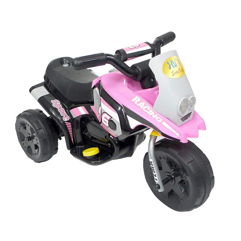 電動バイク 子供用 乗用玩具 充電式 電動3輪バイク 三輪車 キッズバイク サウンド機能付 ペダル操作 組立簡単 お誕生日 プレゼント ピンク