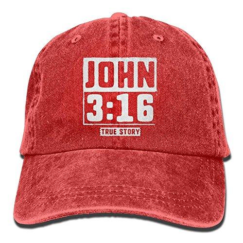 Novelcustom John True Story Christian Baseball Hat Men and Women Summer Sun Hat Travel Sunscreen Cap Fishing Outdoors