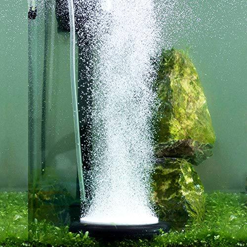 Hygger Aquarium Air Stone Kit, Fish Tank Bubbler, Nano Furnace Flue Round Air Stone Disk Set for Hydroponics, Small Bubbles, Ultra-High Dissolved Oxygen Diffuser (Black, 4 Inch)
