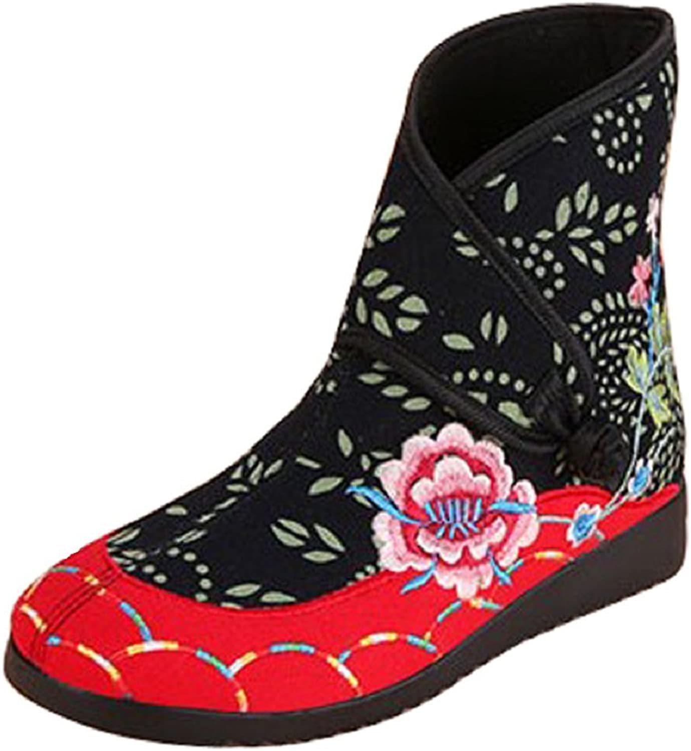 Tianrui Crown Women and Ladies The Patchwork Embroidery Winter Warm Ankle Boots shoes