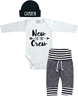 personalized baby going home outfit