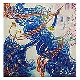 Ncenglings 5D DIY Diamant-Malerei Vollbohrer Stickerei Malerei Geformte Diamantbemalung mit Bohrspitze Wohnzimmerwandaufkleber Dekor Diamond Painting