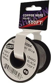 Shaxon SO18-100BK Solid Copper Wire on Spool, 100-Feet, Black