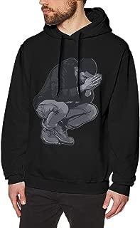 Mens Warm Print with 6 Pray Hands OVO Drake Owl Design Pullover Hooded Sweatshirt