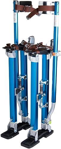 BLACKHORSE-RACING 15 inch 23 inch Professional Grade Adjustable Drywall Stilts Taping Paint Stilt Aluminum Tool Stilt for Painting Painter Taping Black