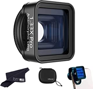 ULANZI 1.33X PRO Anamorphic Lens Kit for Smartphones, Film-Making Lens for Widescreen 21:9 Cinematic Style Video, 17mm Thr...